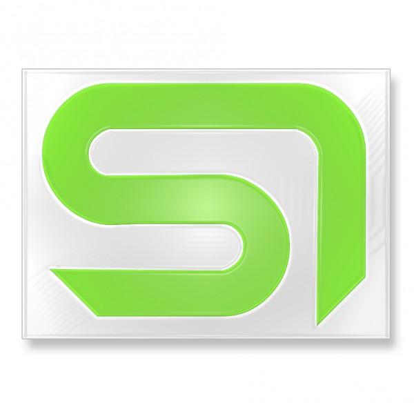 Sticker SI neongrün 13x16,5cm