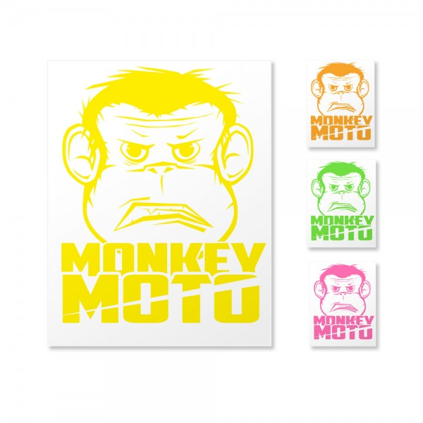 Sticker Monkey Moto Affe 20x16cm