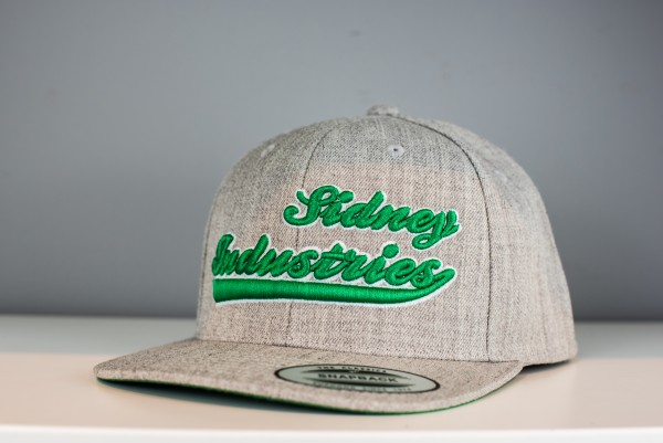 Cap Sidney Industries 3d heather grey/green