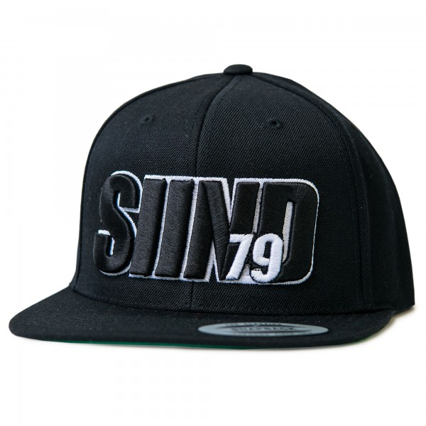 Cap SIIND79 3d black/white