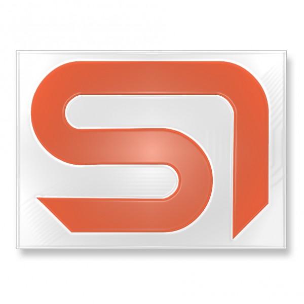 Sticker SI neon-orange 13x16,5cm