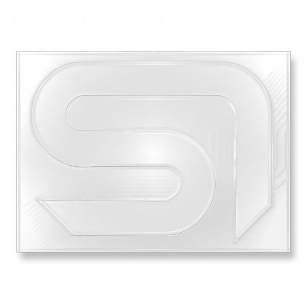Sticker SI weiß 13x16,5cm