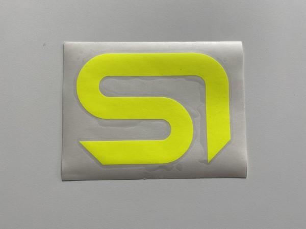 Sticker SI neongelb 13x16,5cm