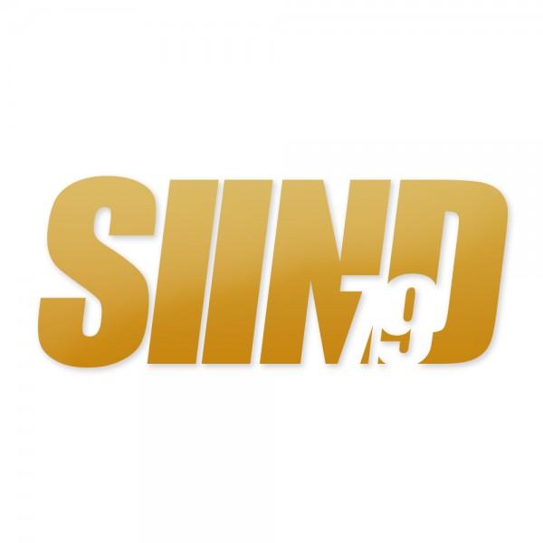 Sticker SIIND79 gold 13x6cm